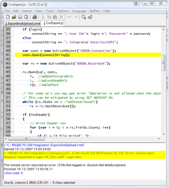 Editing and testing scripts in SciTE – Duncan Smart's Blog