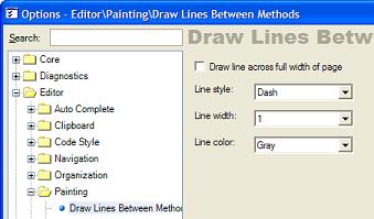 Draw Lines Between Methods -settings
