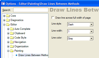 Draw Lines Between Methods - settings