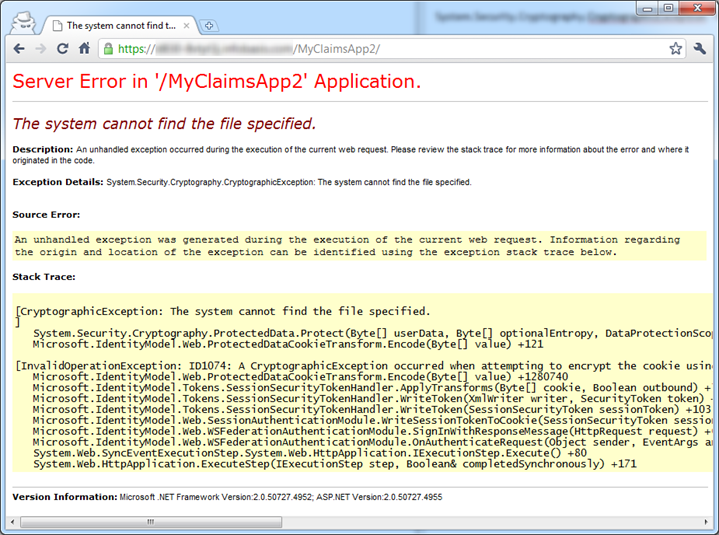 """SOLVED: Windows Identity Foundation – """"The system cannot"""